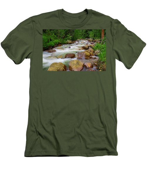 Men's T-Shirt (Slim Fit) featuring the photograph Velvet Green Forest by Tim Reaves