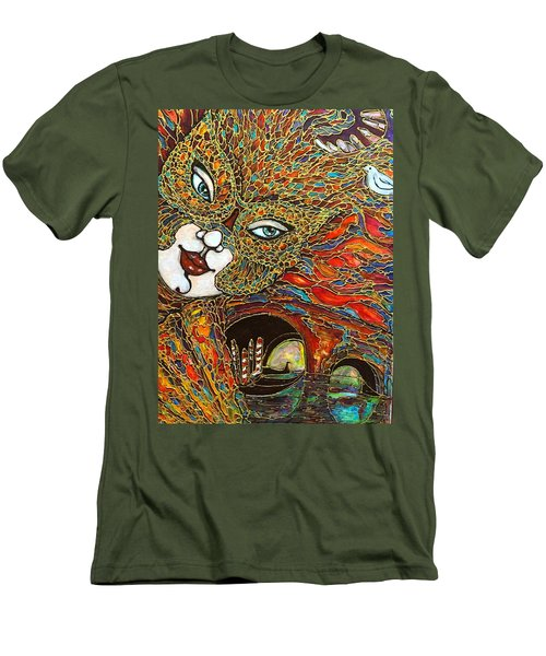Men's T-Shirt (Slim Fit) featuring the painting Venezia by Rae Chichilnitsky