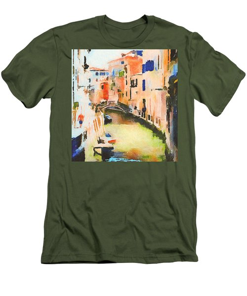 Venice On Waters Men's T-Shirt (Athletic Fit)