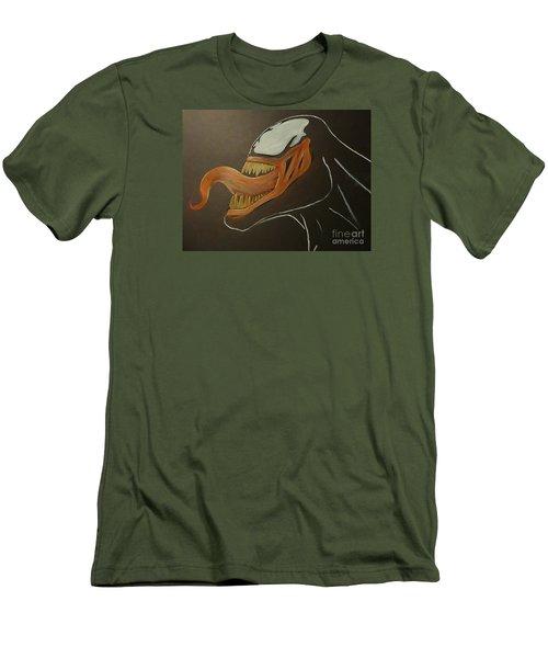 Venom Watercolor Cu Men's T-Shirt (Slim Fit) by Justin Moore