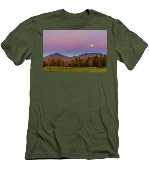 Vermont Fall, Full Moon And Belt Of Venus Men's T-Shirt (Slim Fit) by Tim Kirchoff