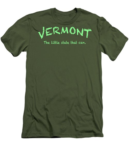 Vermont Little State Men's T-Shirt (Slim Fit) by George Robinson