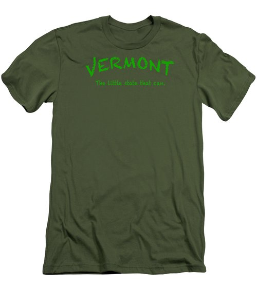 Vermont The Little State Men's T-Shirt (Slim Fit) by George Robinson