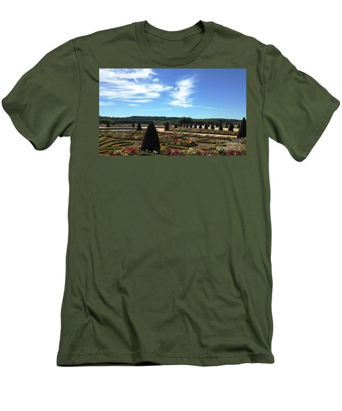 Men's T-Shirt (Slim Fit) featuring the photograph Versailles Palace Gardens by Therese Alcorn