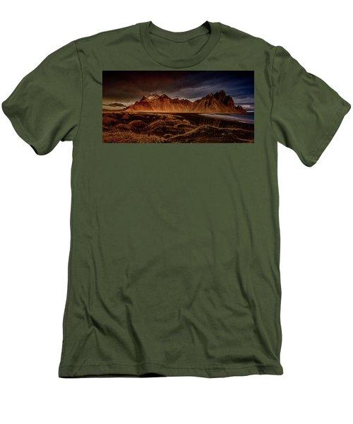 Men's T-Shirt (Slim Fit) featuring the photograph Vestrahon With Sunglow by Allen Biedrzycki
