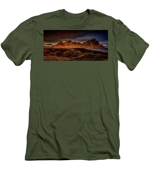 Vestrahon With Sunglow Men's T-Shirt (Athletic Fit)