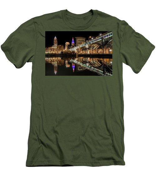 Veterans Memorial Bridge Men's T-Shirt (Slim Fit) by Brent Durken