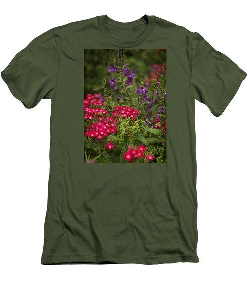 Vibrant Blooms Men's T-Shirt (Slim Fit)