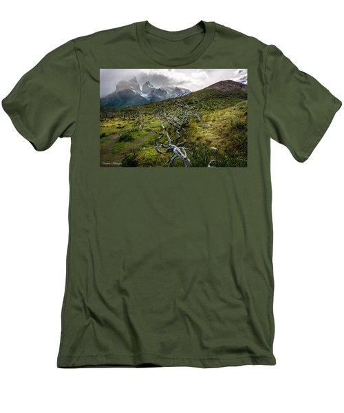 Men's T-Shirt (Slim Fit) featuring the photograph Vibrant Desolation by Andrew Matwijec