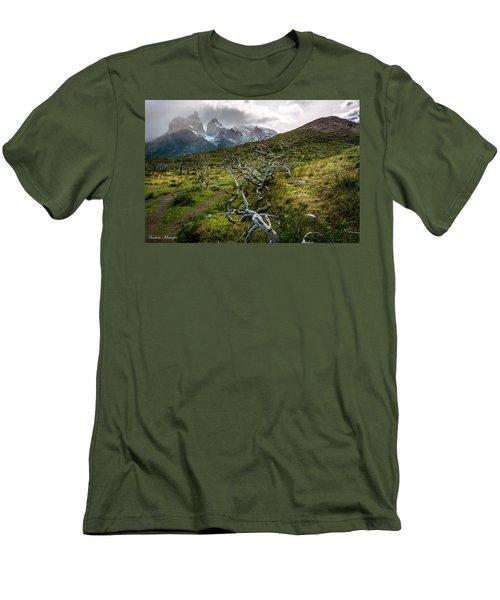 Vibrant Desolation Men's T-Shirt (Athletic Fit)