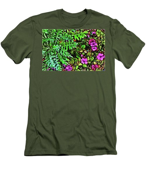 Vibrant Garden Men's T-Shirt (Slim Fit) by Terry Cork