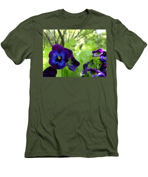 Vibrant Violets In Purple Men's T-Shirt (Slim Fit) by Rebecca Overton