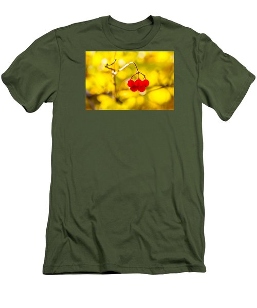 Men's T-Shirt (Slim Fit) featuring the photograph Viburnum Berries - Natural Olympic Emblem by Alexander Senin