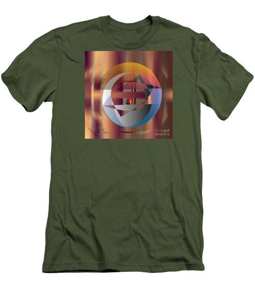 Men's T-Shirt (Slim Fit) featuring the digital art Vicious Circle by Leo Symon