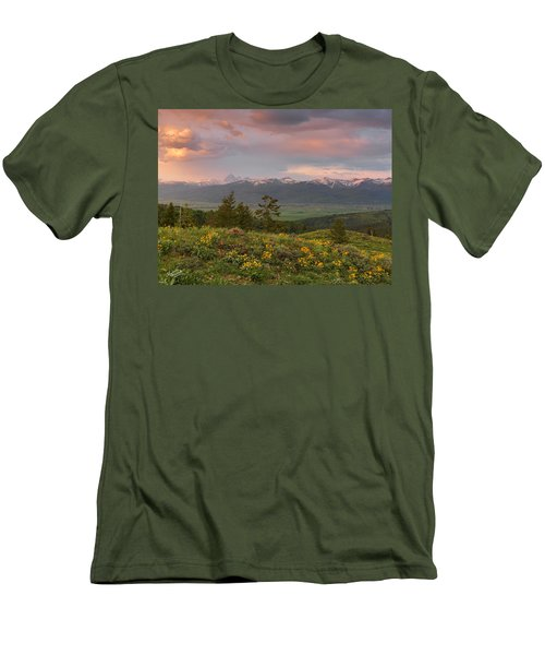 Victor Idaho Sunset Men's T-Shirt (Athletic Fit)