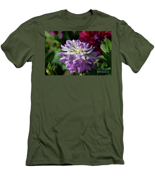 Victoria Ann Dahlia Men's T-Shirt (Slim Fit) by Glenn Franco Simmons