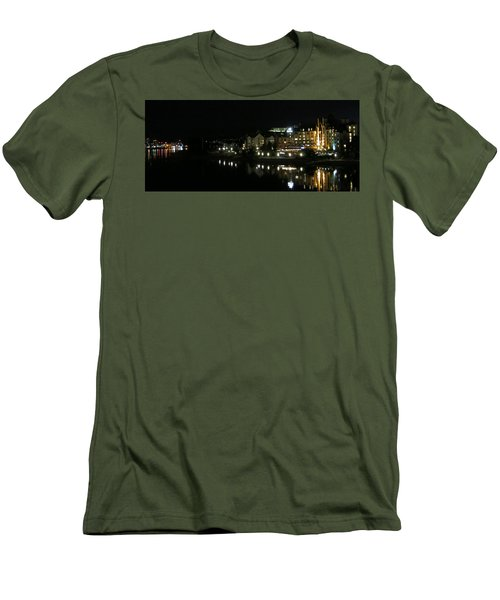 Victoria Harbor Night View Men's T-Shirt (Slim Fit) by Betty Buller Whitehead