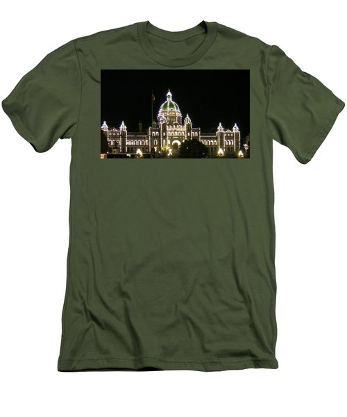 Victoria Legislative Buildings Men's T-Shirt (Slim Fit) by Betty Buller Whitehead
