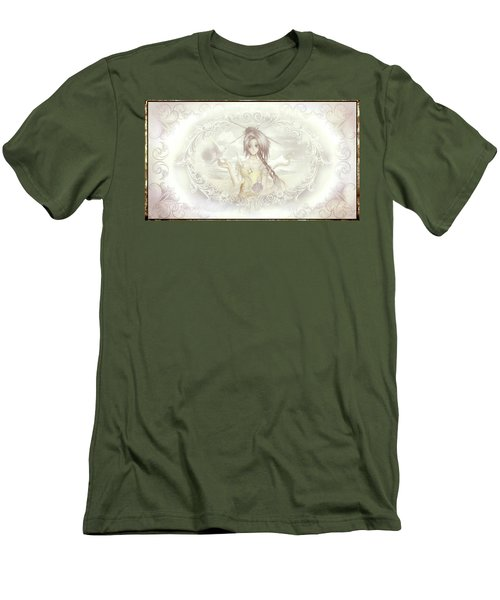 Men's T-Shirt (Athletic Fit) featuring the mixed media Victorian Princess Altiana by Shawn Dall