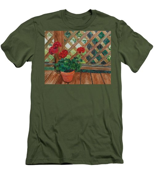 View From A Deck Men's T-Shirt (Slim Fit) by Lynne Reichhart