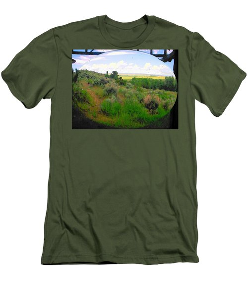 View From Cabin Window Men's T-Shirt (Slim Fit) by Lenore Senior