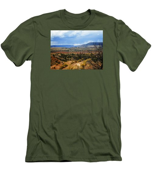 Men's T-Shirt (Slim Fit) featuring the photograph View From Ghost Ranch, Nm by Kurt Van Wagner