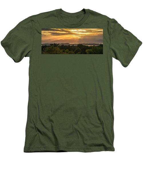 View From Overlook Park Men's T-Shirt (Slim Fit) by Craig Szymanski