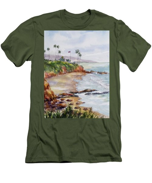 View From The Cliff Men's T-Shirt (Slim Fit) by William Reed