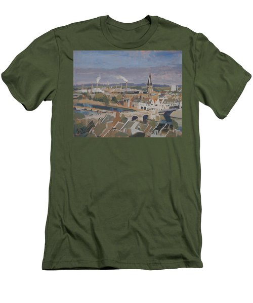 View To The East Bank Of Maastricht Men's T-Shirt (Slim Fit) by Nop Briex