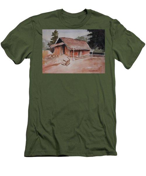 Village Hut Men's T-Shirt (Athletic Fit)