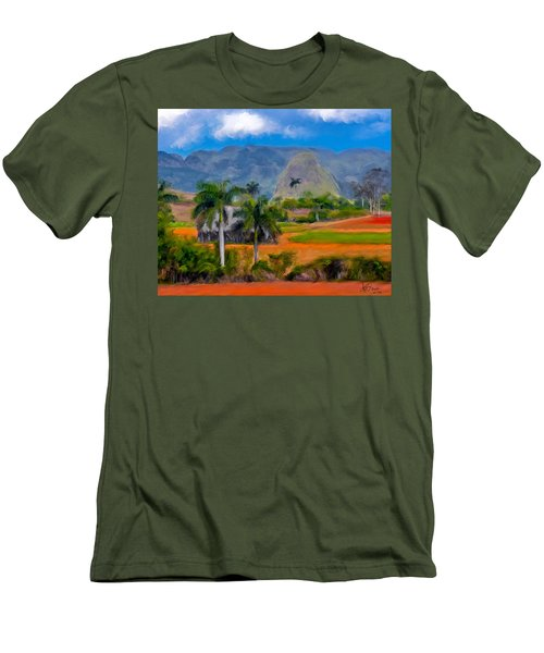 Vinales Valley. Cuba Men's T-Shirt (Athletic Fit)
