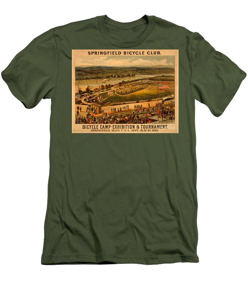 Vintage 1883 Springfield Bicycle Club Poster Men's T-Shirt (Slim Fit) by John Stephens