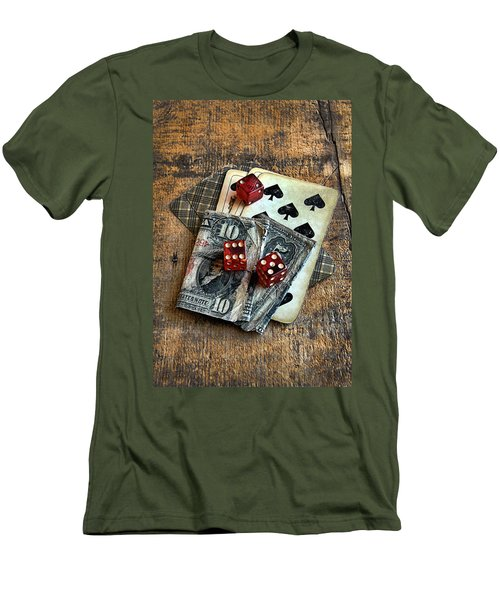 Vintage Cards Dice And Cash Men's T-Shirt (Athletic Fit)