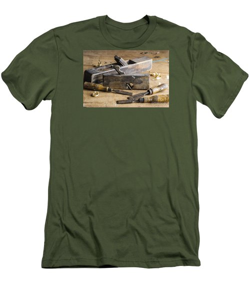 Vintage Carpentry Bench Men's T-Shirt (Slim Fit) by Trevor Chriss