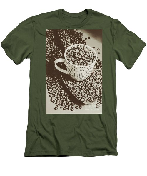 Men's T-Shirt (Athletic Fit) featuring the photograph Vintage Coffee Art. Stimulant by Jorgo Photography - Wall Art Gallery