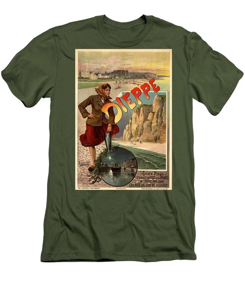 Vintage Dieppe Advertisement Men's T-Shirt (Slim Fit) by Andrew Fare