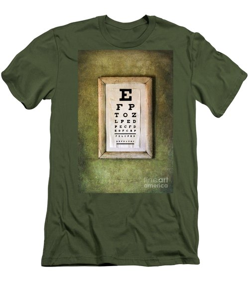 Vintage Eye Chart Men's T-Shirt (Athletic Fit)