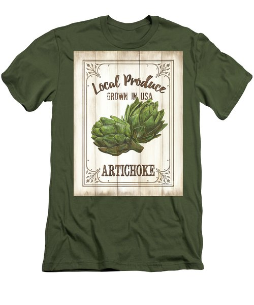 Vintage Fresh Vegetables 2 Men's T-Shirt (Slim Fit) by Debbie DeWitt