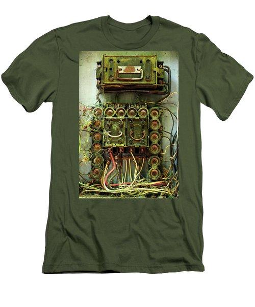 Vintage Household Fuse Box Men's T-Shirt (Slim Fit) by Michael Eingle