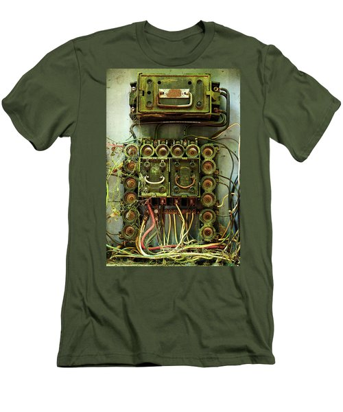 Vintage Household Fuse Box Men's T-Shirt (Athletic Fit)