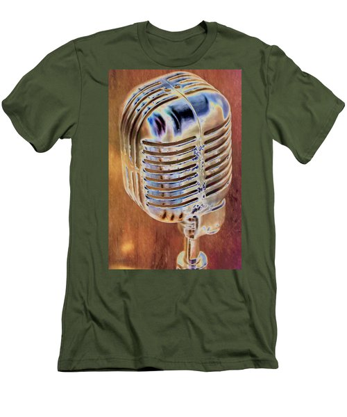 Vintage Microphone Men's T-Shirt (Slim Fit) by Pamela Williams