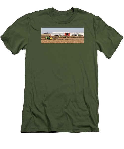 Vintage Plowing In Griswold Iowa Men's T-Shirt (Athletic Fit)