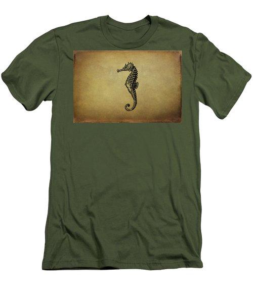 Vintage Seahorse Illustration Men's T-Shirt (Slim Fit) by Peggy Collins
