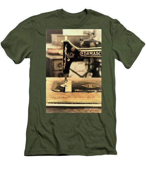 Men's T-Shirt (Slim Fit) featuring the photograph Vintage Sewing Machine by Jill Battaglia