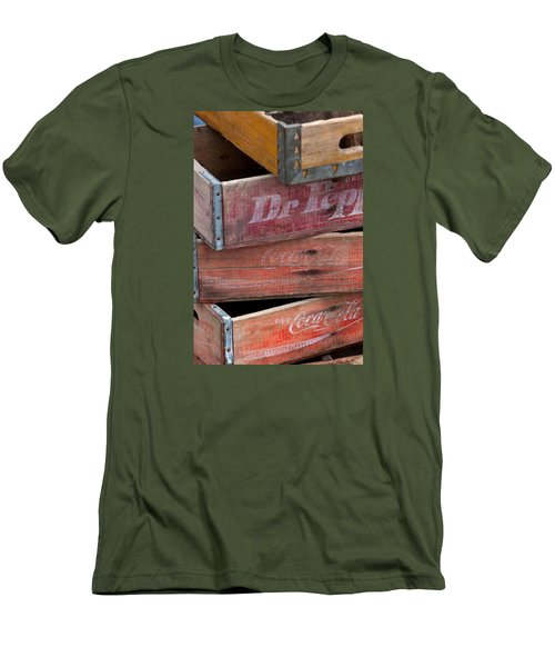 Vintage Soda Crates Men's T-Shirt (Athletic Fit)