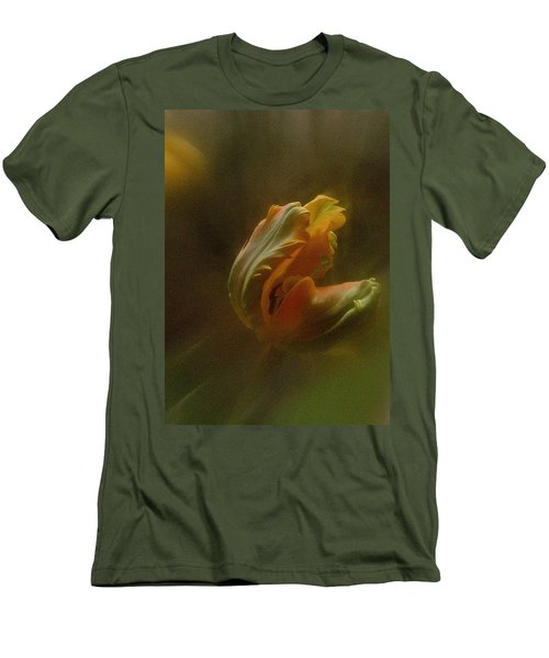 Men's T-Shirt (Slim Fit) featuring the photograph Vintage Tulip March 2017 by Richard Cummings