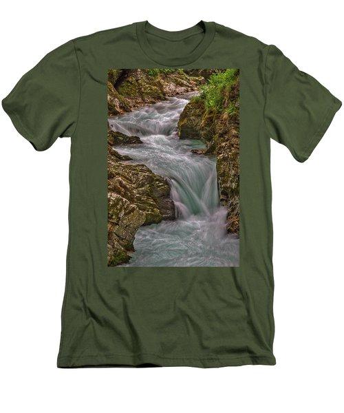 Men's T-Shirt (Athletic Fit) featuring the photograph Vintgar Gorge Rapids #2 - Slovenia by Stuart Litoff