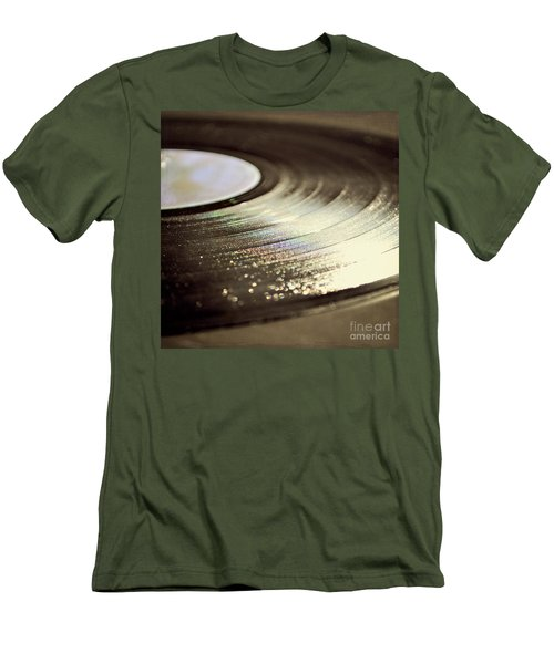 Men's T-Shirt (Slim Fit) featuring the photograph Vinyl Record by Lyn Randle