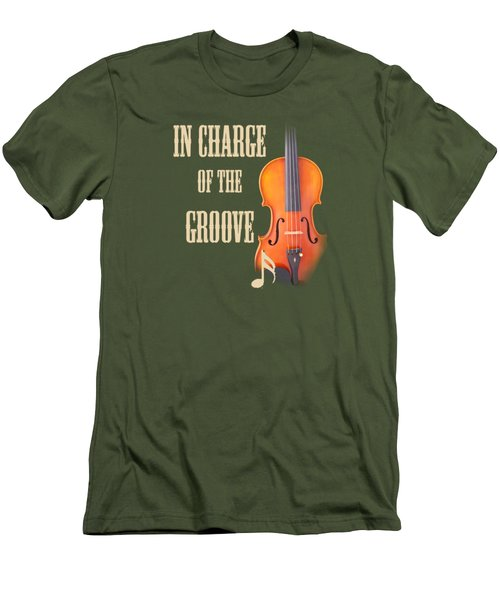 Violin Violas In Charge Of The Groove 5539.02 Men's T-Shirt (Athletic Fit)