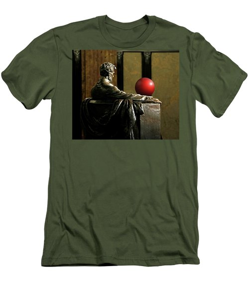Men's T-Shirt (Slim Fit) featuring the photograph Visiting Lincoln by Christopher McKenzie